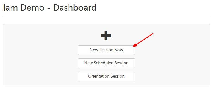 The New Session Now button near the bottom-middle of the page