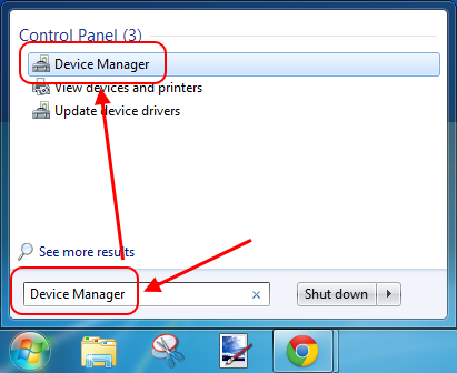 Device Manager search