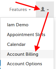 """Account Billing"" in dropdown"