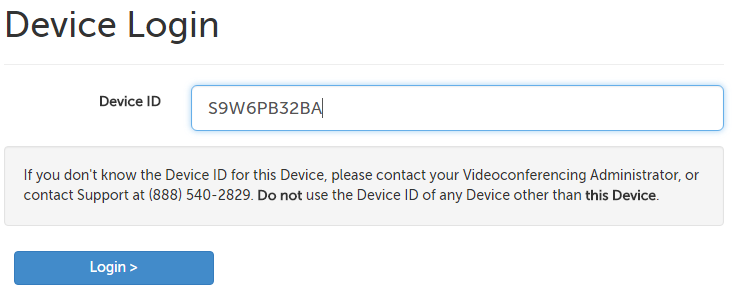 Device login id field