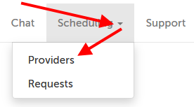 """Scheduling"" tab"